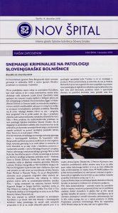 Snemanje kriminalke na patologiji slovenjgraške bolnišnice