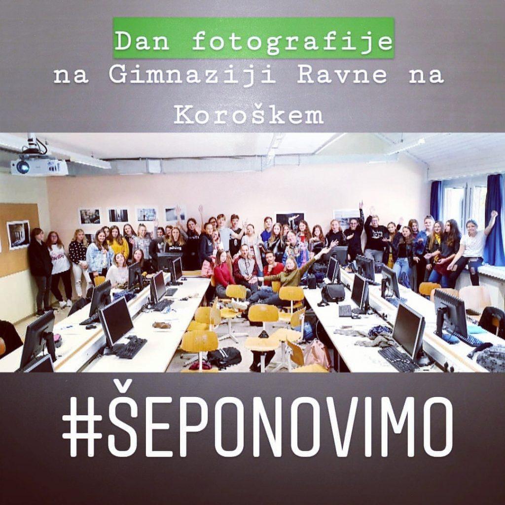 DAN FOTOGRAFIJE na Gimnaziji Ravne na Koroškem.